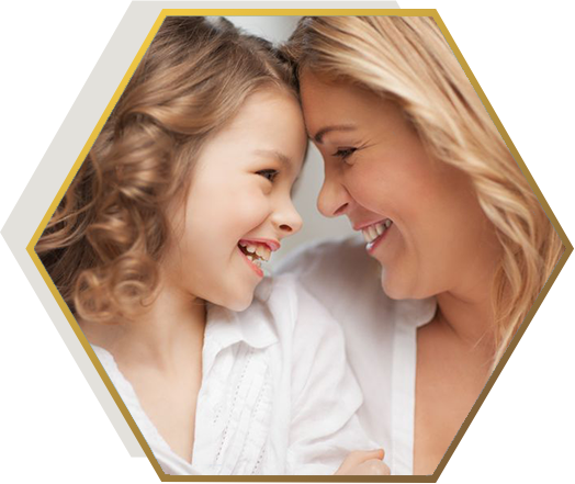 Jonsson Protein blond woman and blond child smiling